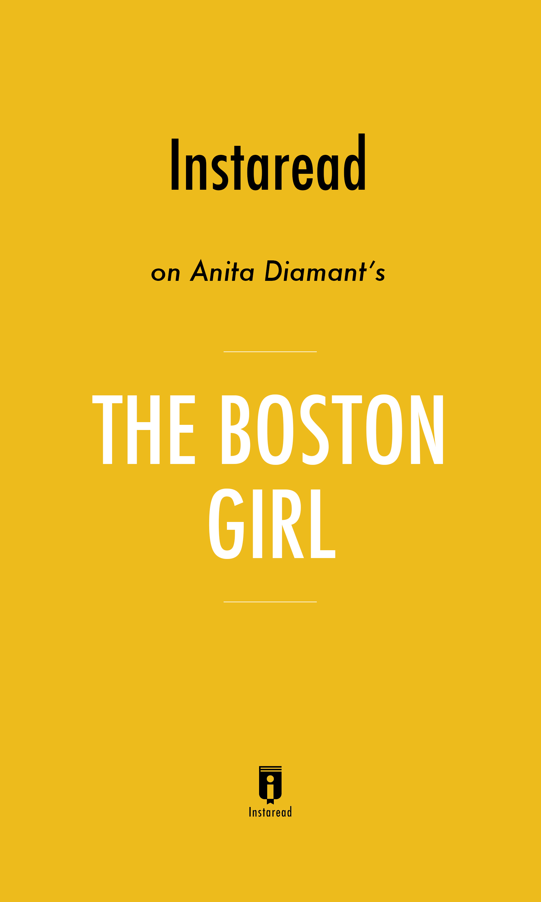"Book Cover for ""The Boston Girl"""