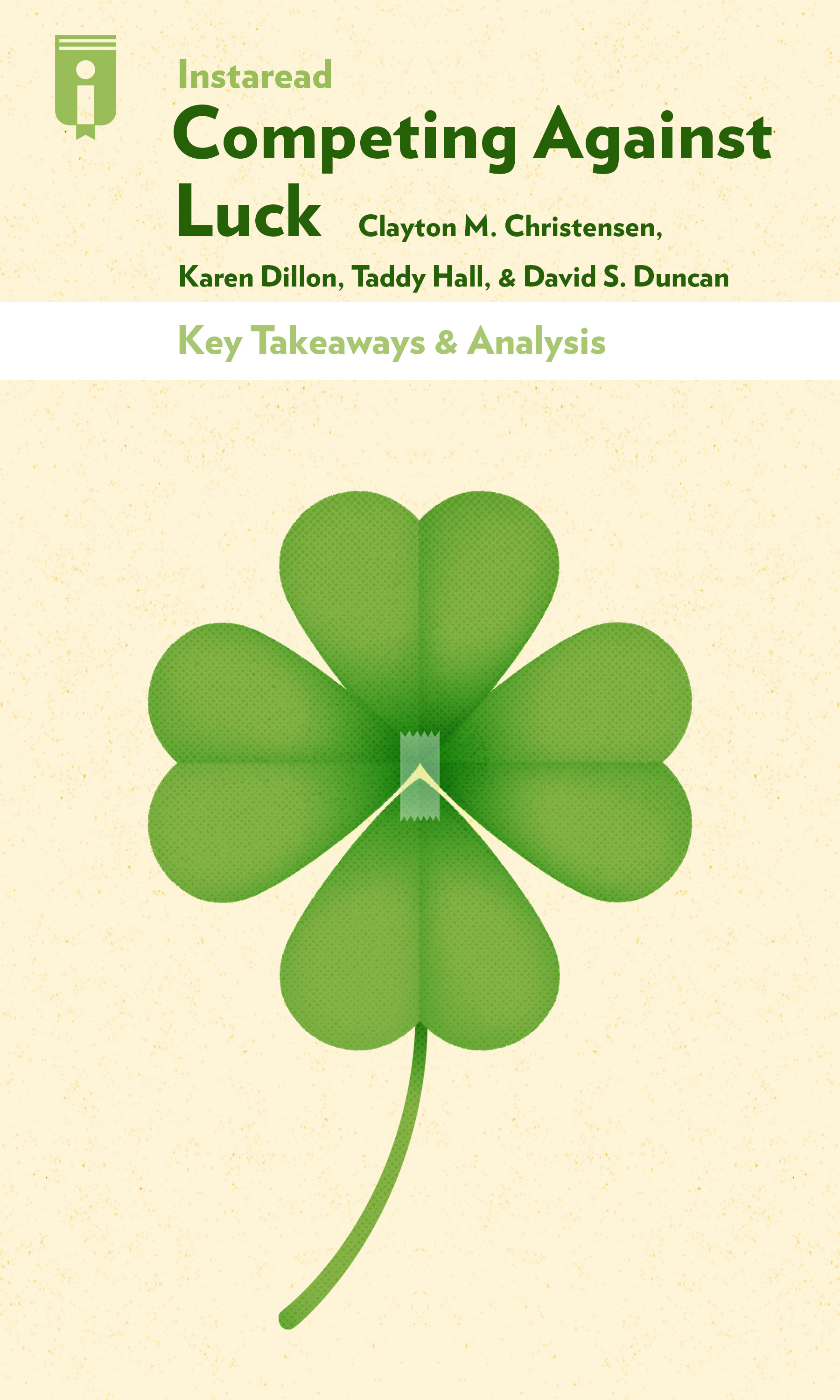"""Book Cover for """"Competing Against Luck"""""""