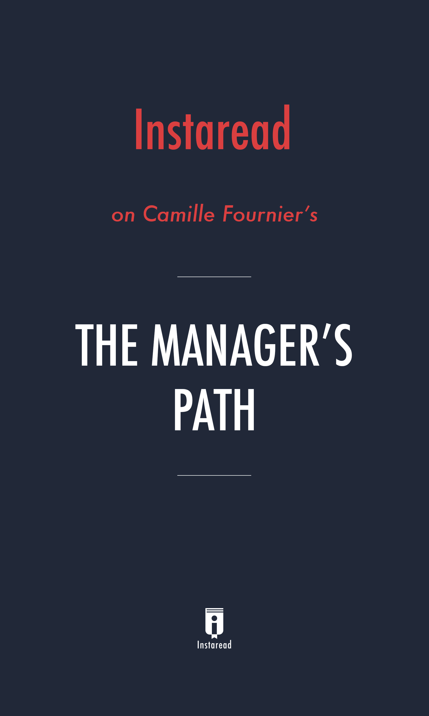"Book Cover for ""The Manager's Path"""
