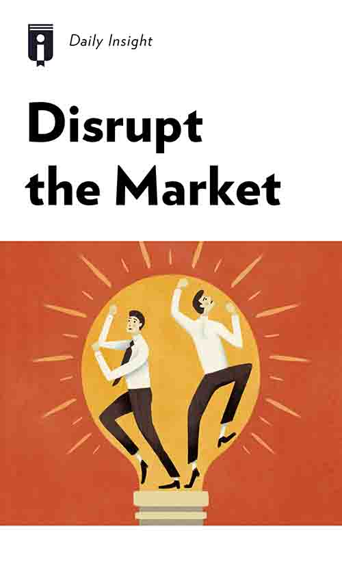 "Book Cover for ""Disrupt the Market"""