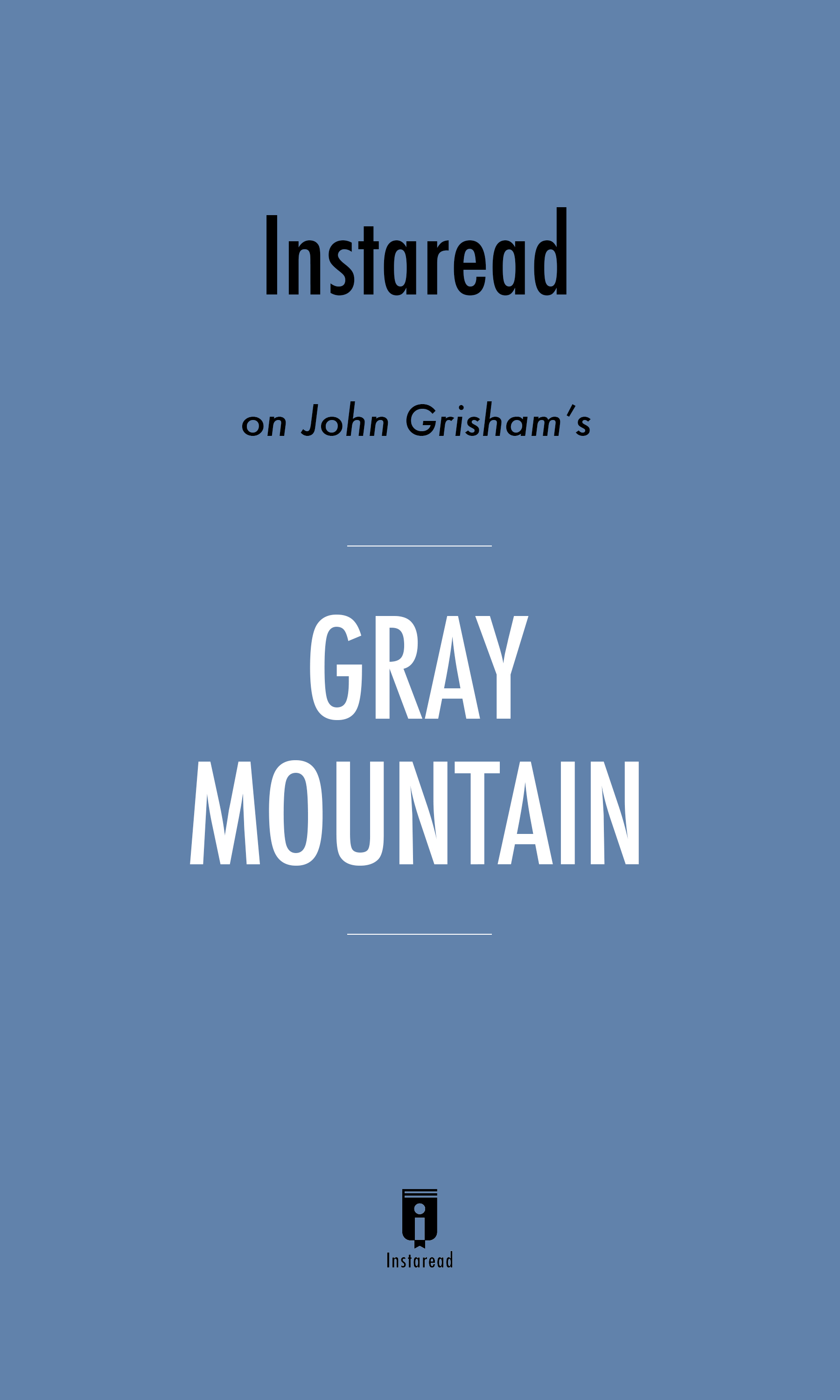 "Book Cover for ""Gray Mountain"""