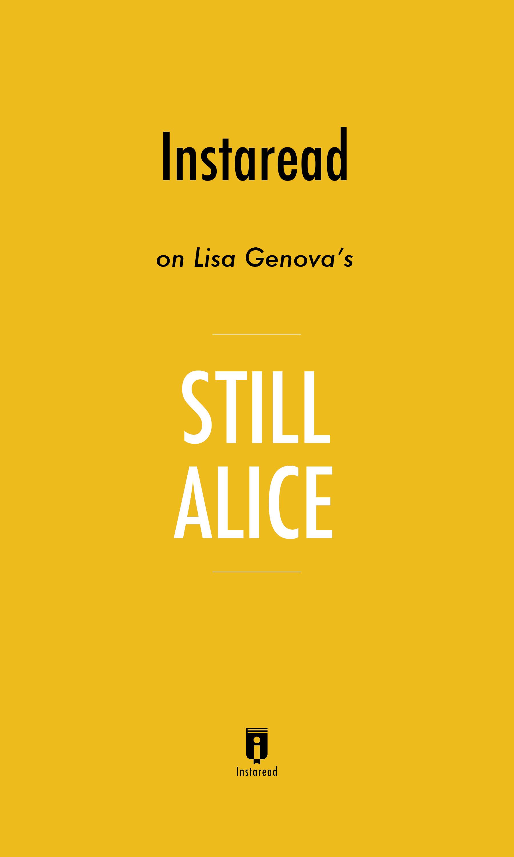 """Book Cover for """"Still Alice"""""""