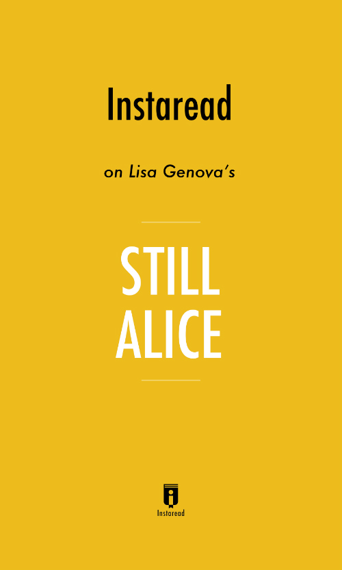 "Book Cover for ""Still Alice"""