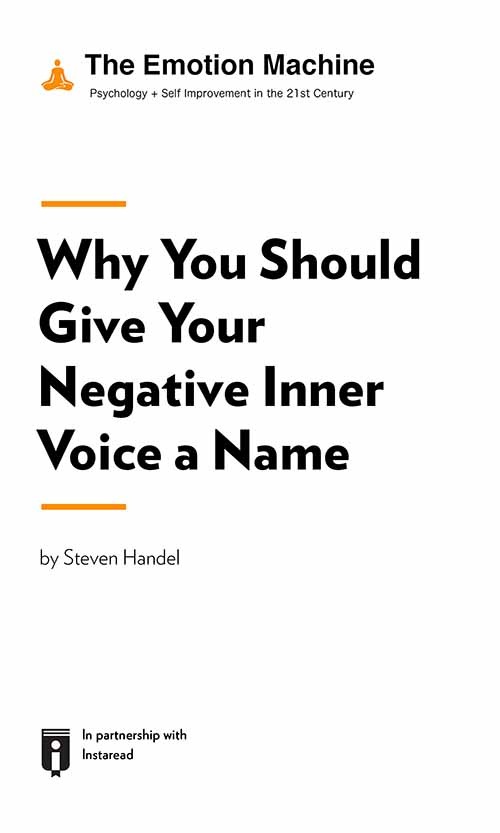 "Book Cover for ""Why You Should Give Your Negative Inner Voice a Name"""