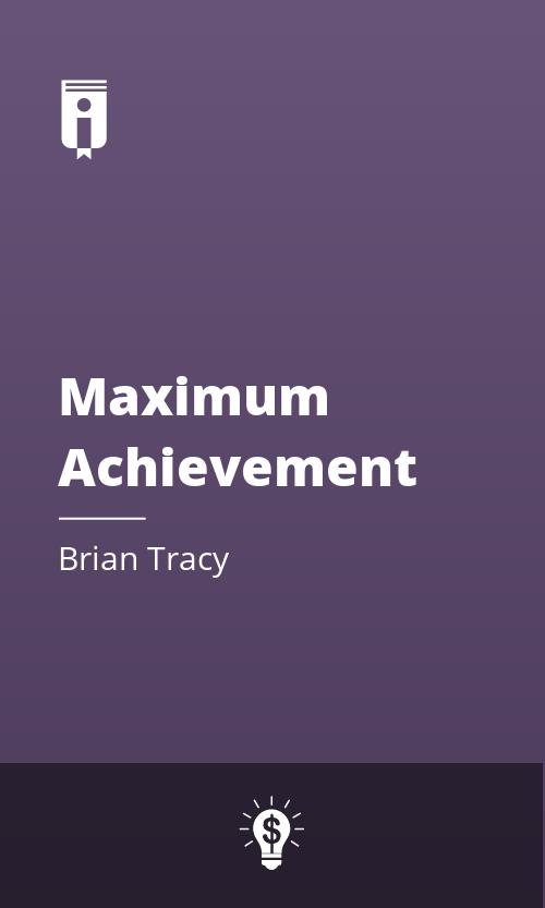 """Book Cover for """"Maximum Achievement"""""""
