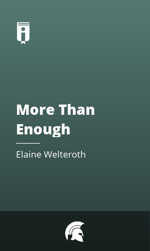 """Book Cover for """"More Than Enough"""""""