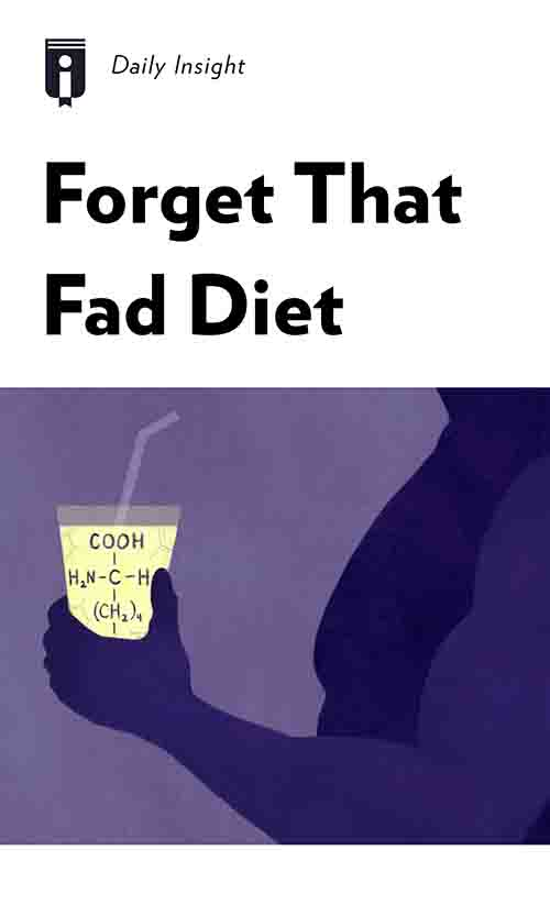"Book Cover for ""Forget That Fad Diet"""