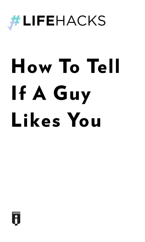 "Book Cover for ""How To Tell If A Guy Likes You"""