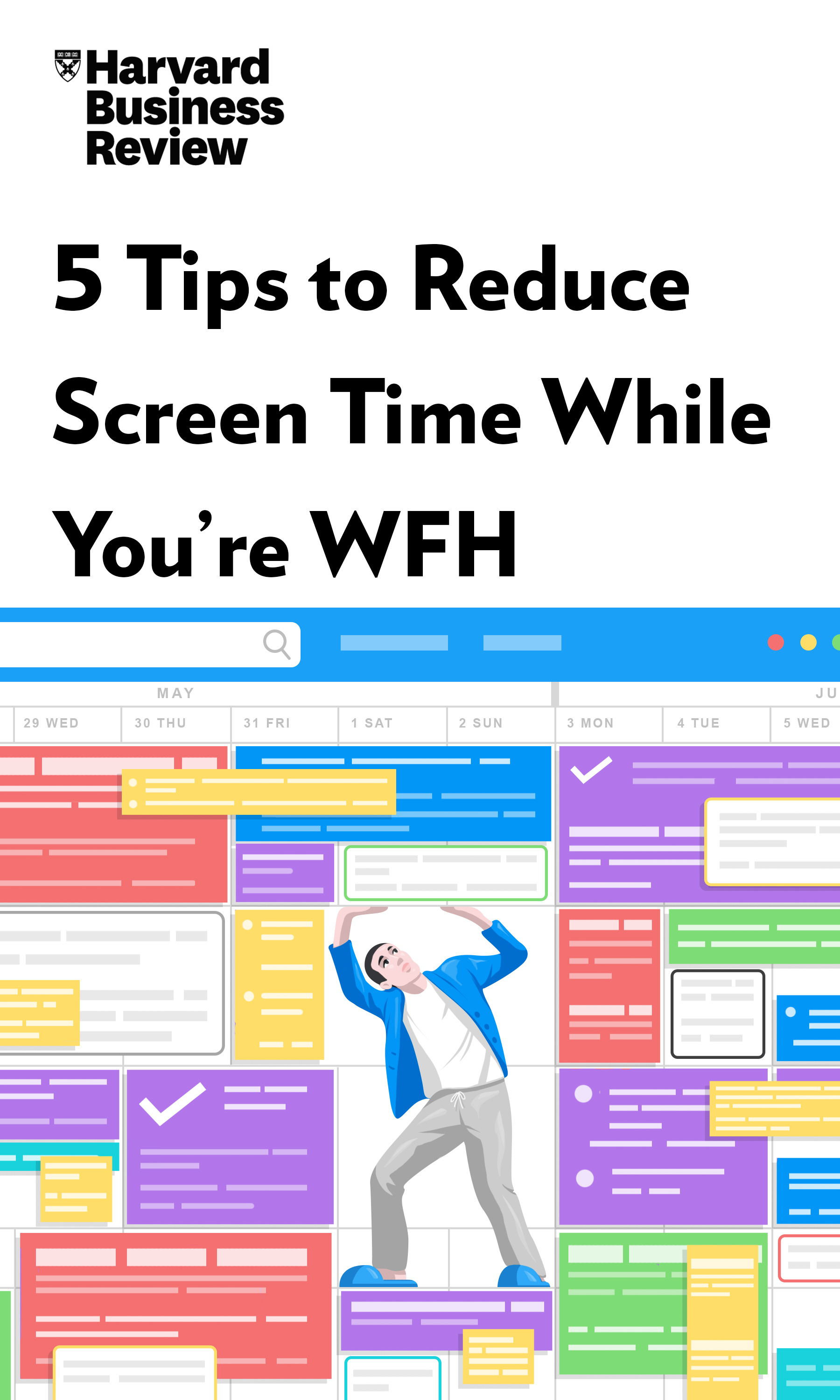 "Book Cover for ""5 Tips to Reduce Screen Time While You're WFH"""