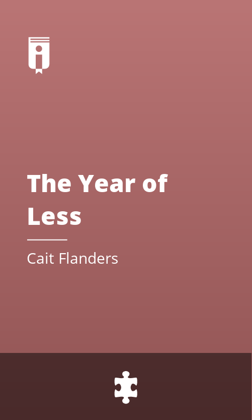 """Book Cover for """"The Year of Less"""""""