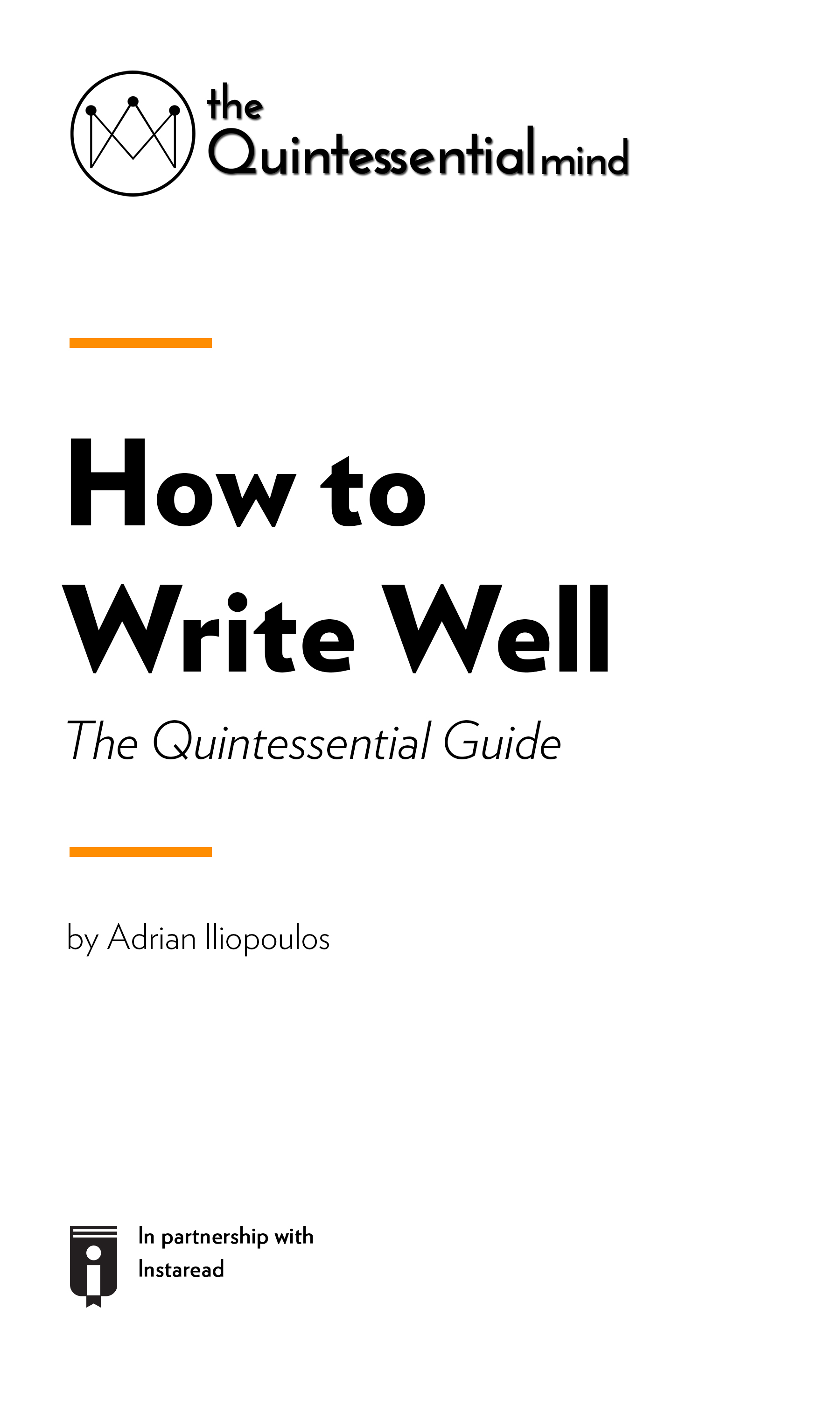 "Book Cover for ""How To Write Well – The Quintessential Guide"""