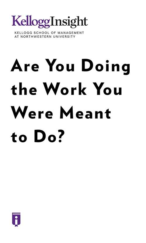 "Book Cover for ""Are You Doing the Work You Were Meant to Do?"""