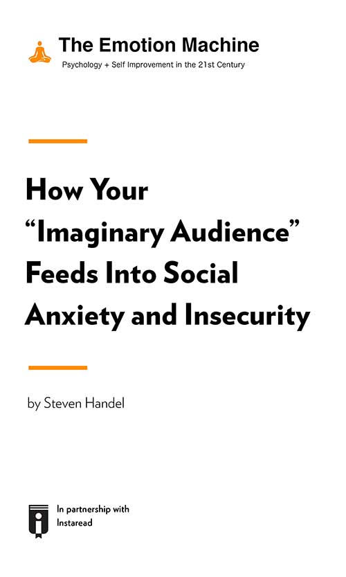 "Book Cover for ""How Your ""Imaginary Audience"" Feeds Into Social Anxiety and Insecurity"""