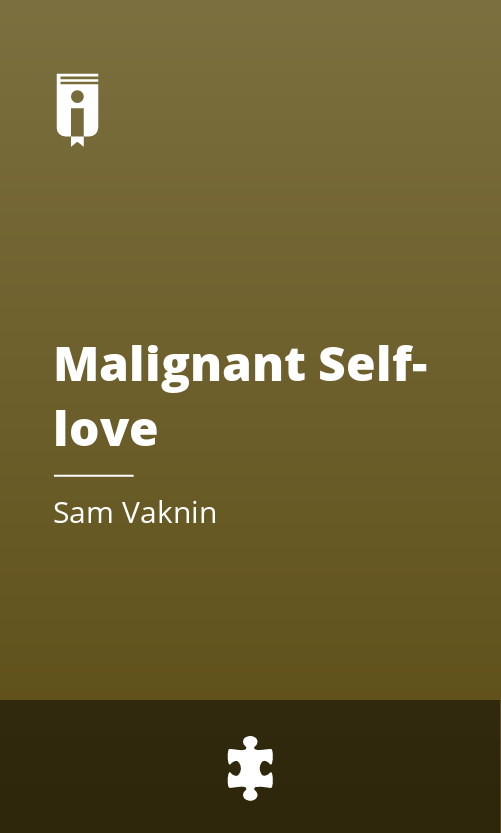 "Book Cover for ""Malignant Self-love"""