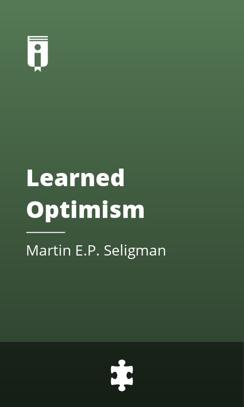 """Book Cover for """"Learned Optimism"""""""
