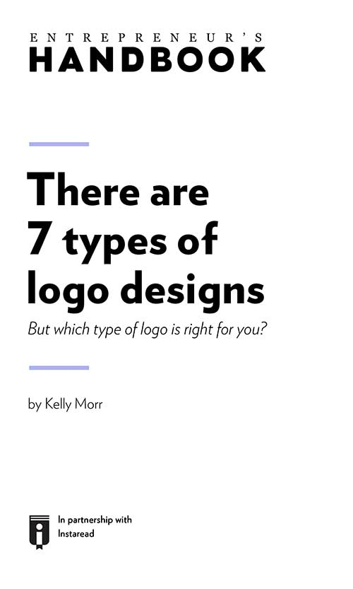 "Book Cover for ""There are 7 types of logo designs: but which type of logo is right for you?"""