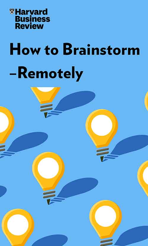 "Book Cover for ""How to Brainstorm—Remotely"""