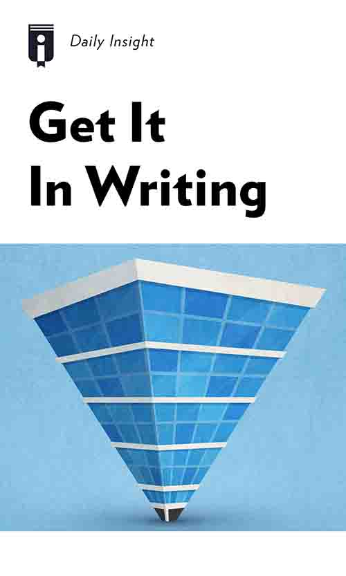 "Book Cover for ""Get It In Writing"""