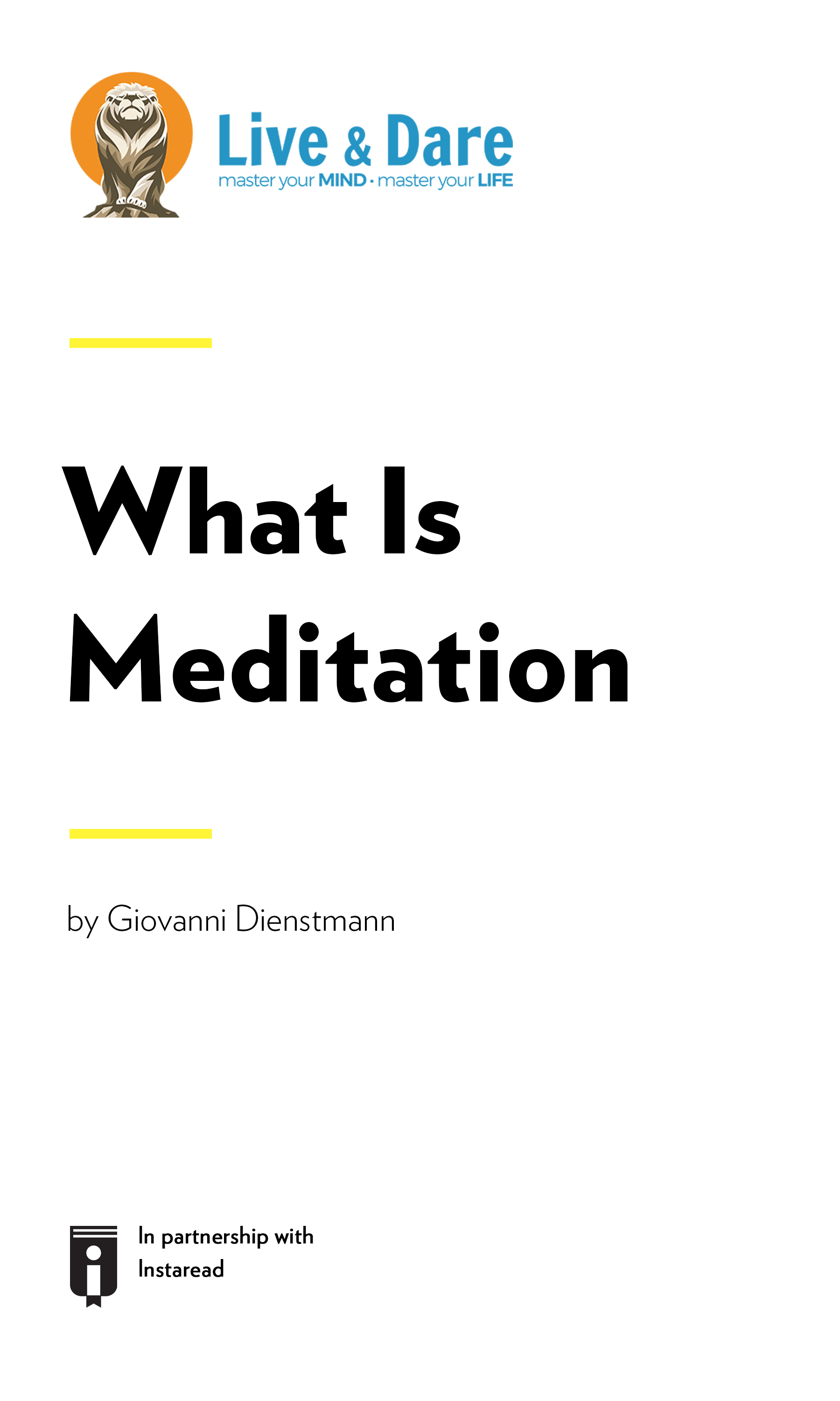 """Book Cover for """"What Is Meditation"""""""
