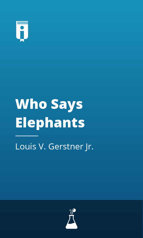 """Book Cover for """"Who Says Elephants Can"""