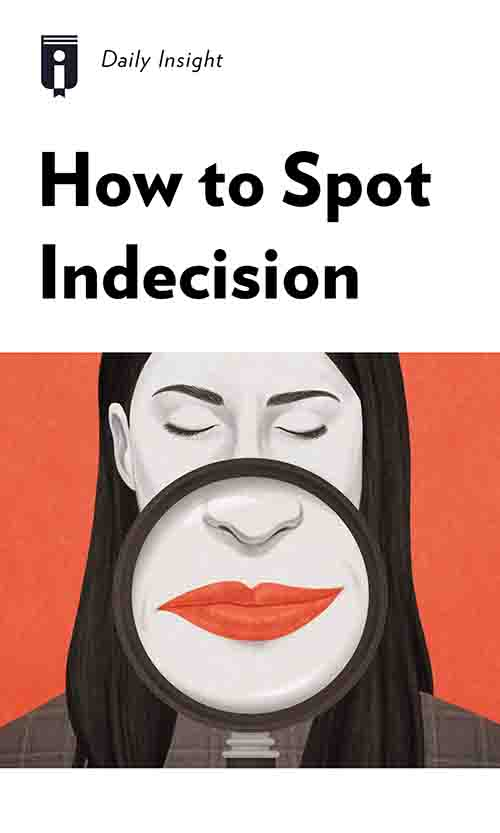 """Book Cover for """"How to Spot Indecision"""""""