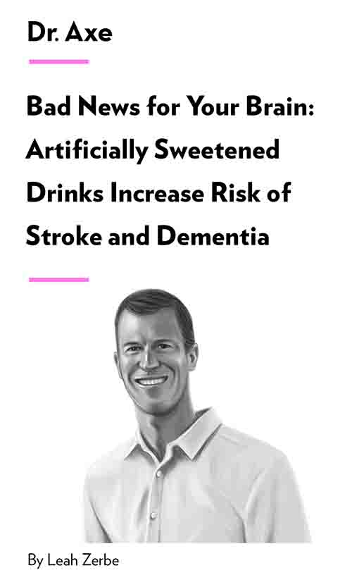 "Book Cover for ""Bad News for Your Brain: Artificially Sweetened Drinks Increase Risk of Stroke and Dementia"""