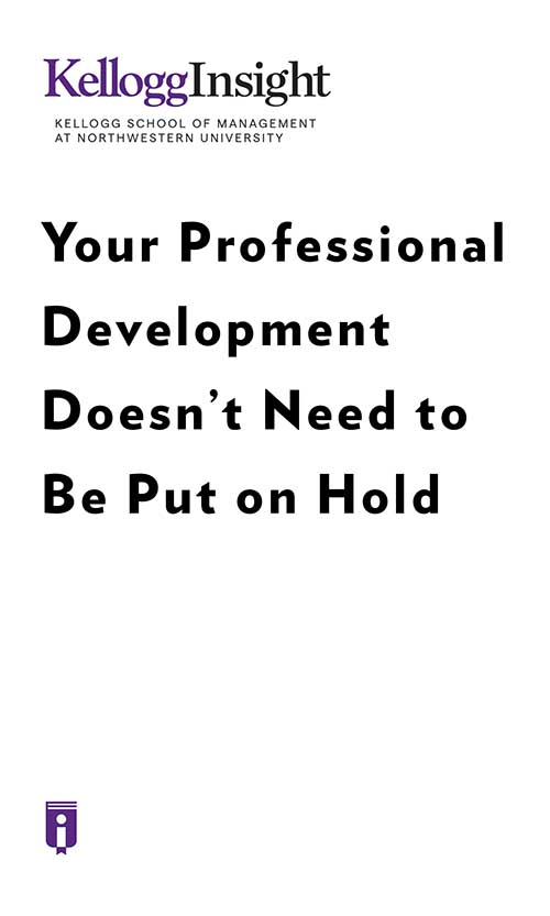 "Book Cover for ""Your Professional Development Doesn't Need to Be Put on Hold"""