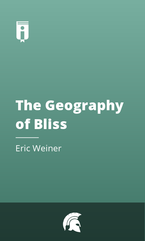 "Book Cover for ""The Geography of Bliss"""