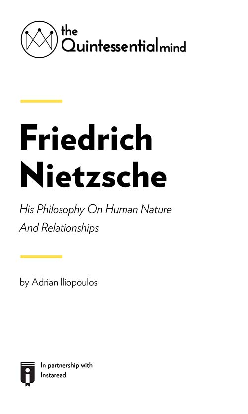 "Book Cover for ""Friedrich Nietzsche – His Philosophy On Human Nature And Relationships"""