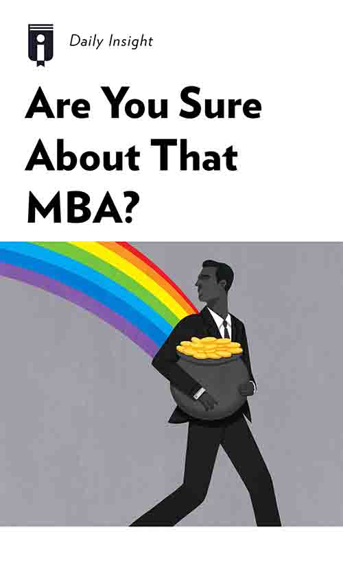 "Book Cover for ""Are You Sure About That MBA?"""