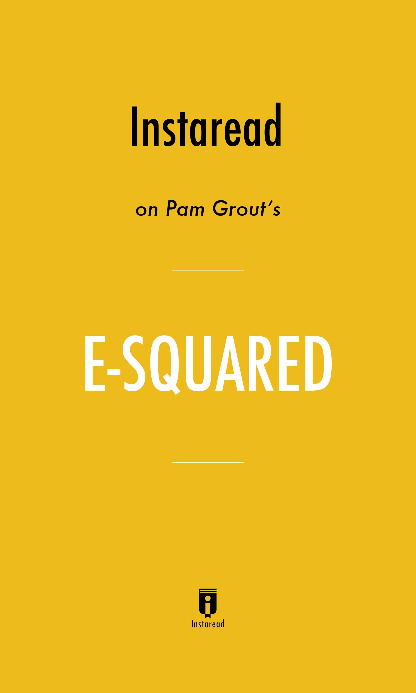 """Book Cover for """"E-Squared"""""""