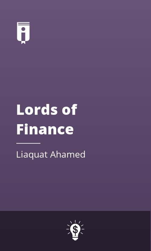 """Book Cover for """"Lords of Finance"""""""