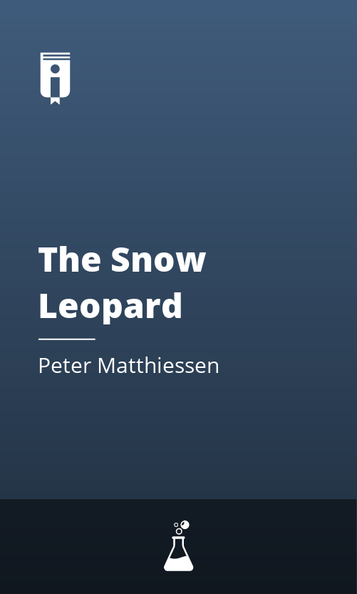 """Book Cover for """"The Snow Leopard"""""""