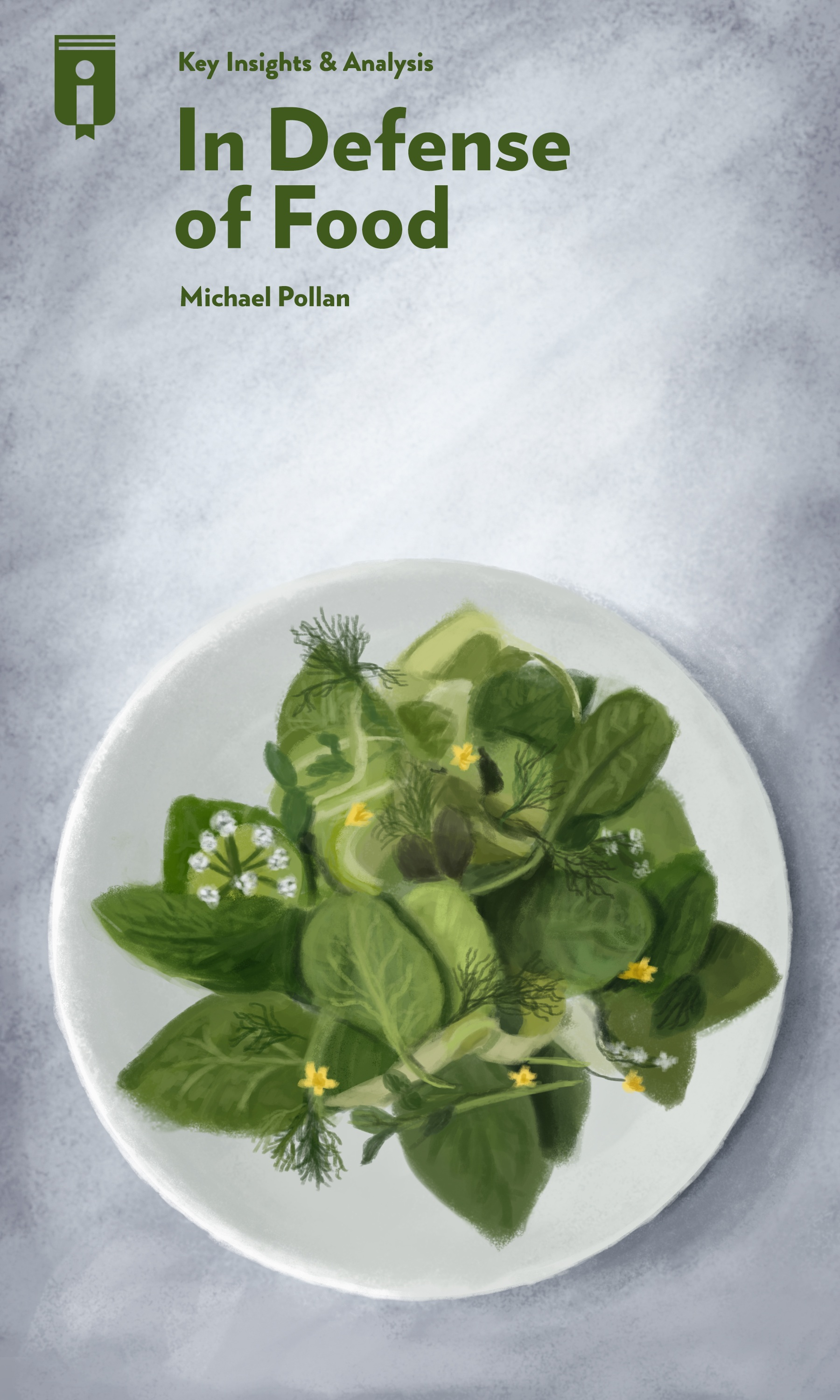 """Book Cover for """"In Defense of Food"""""""