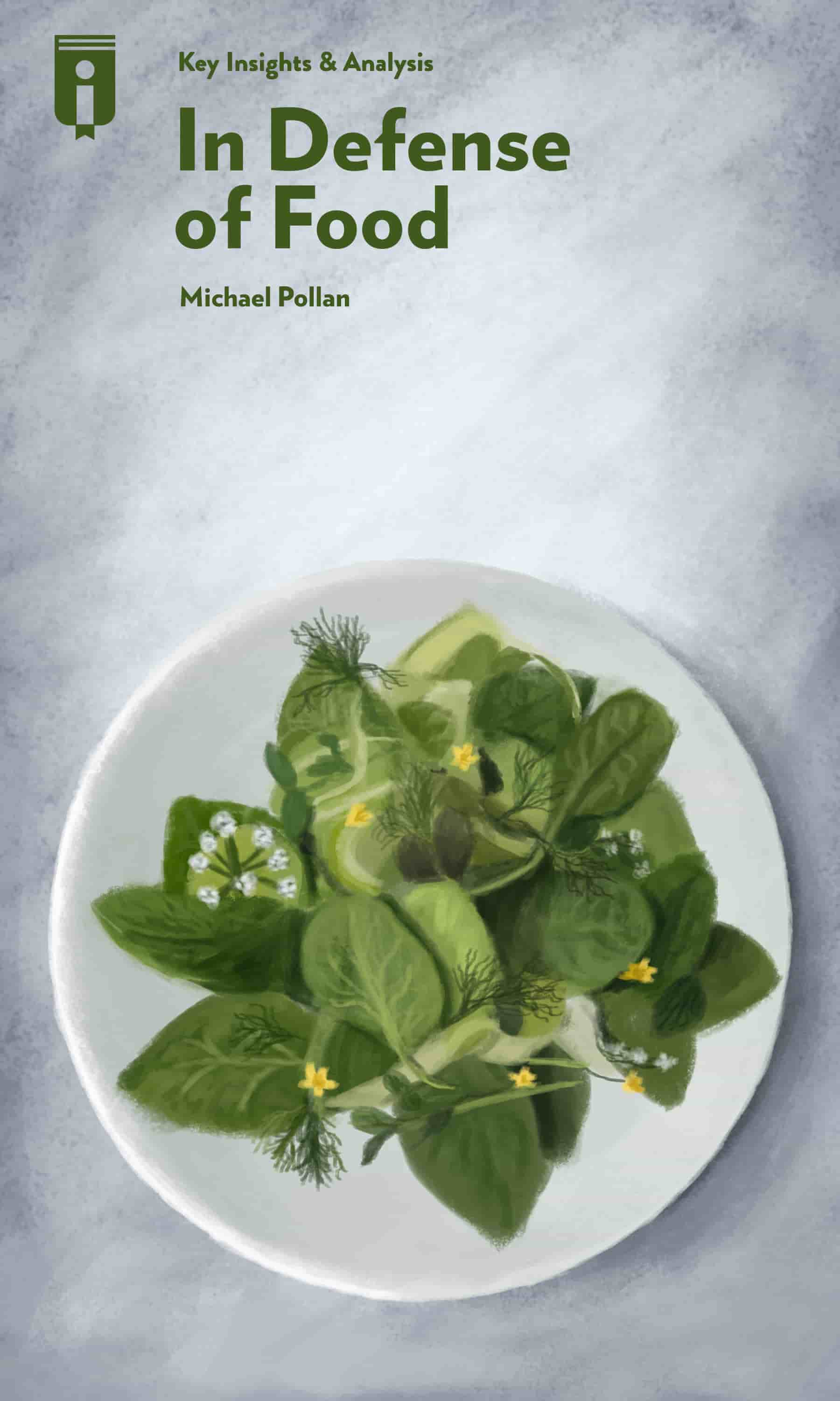 "Book Cover for ""In Defense of Food"""