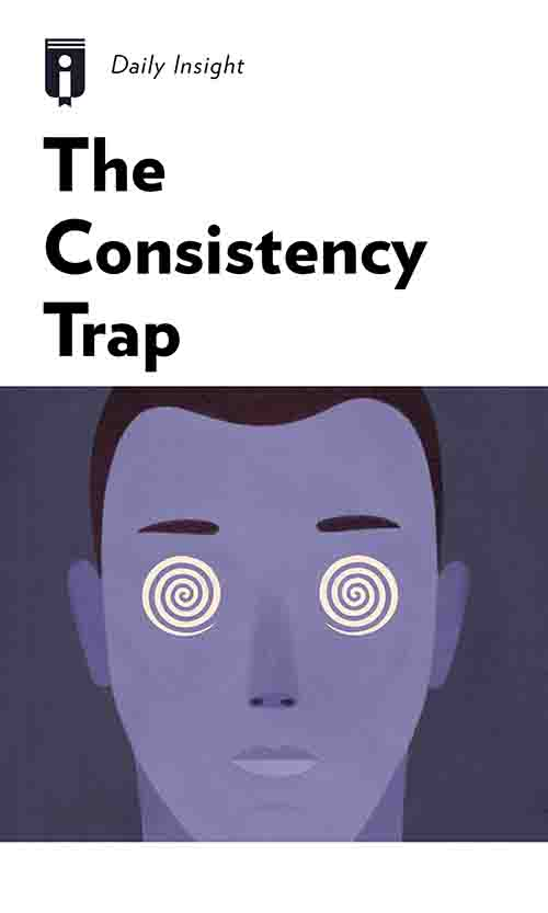 "Book Cover for ""The Consistency Trap"""