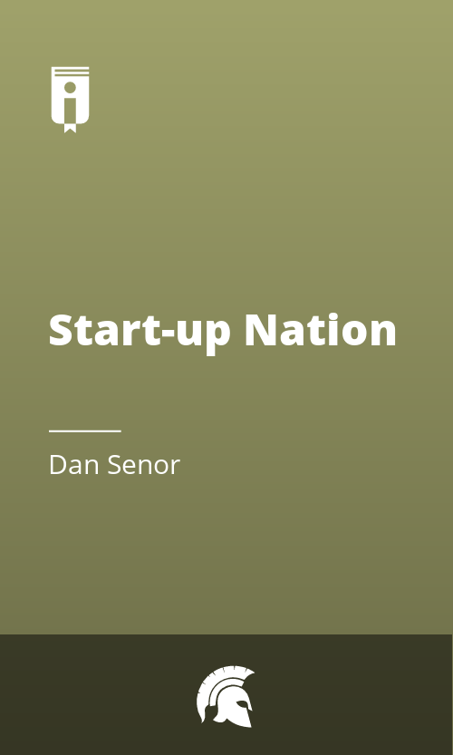 """Book Cover for """"Start-up Nation"""""""