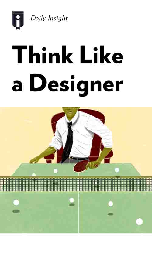 "Book Cover for ""Think Like a Designer"""