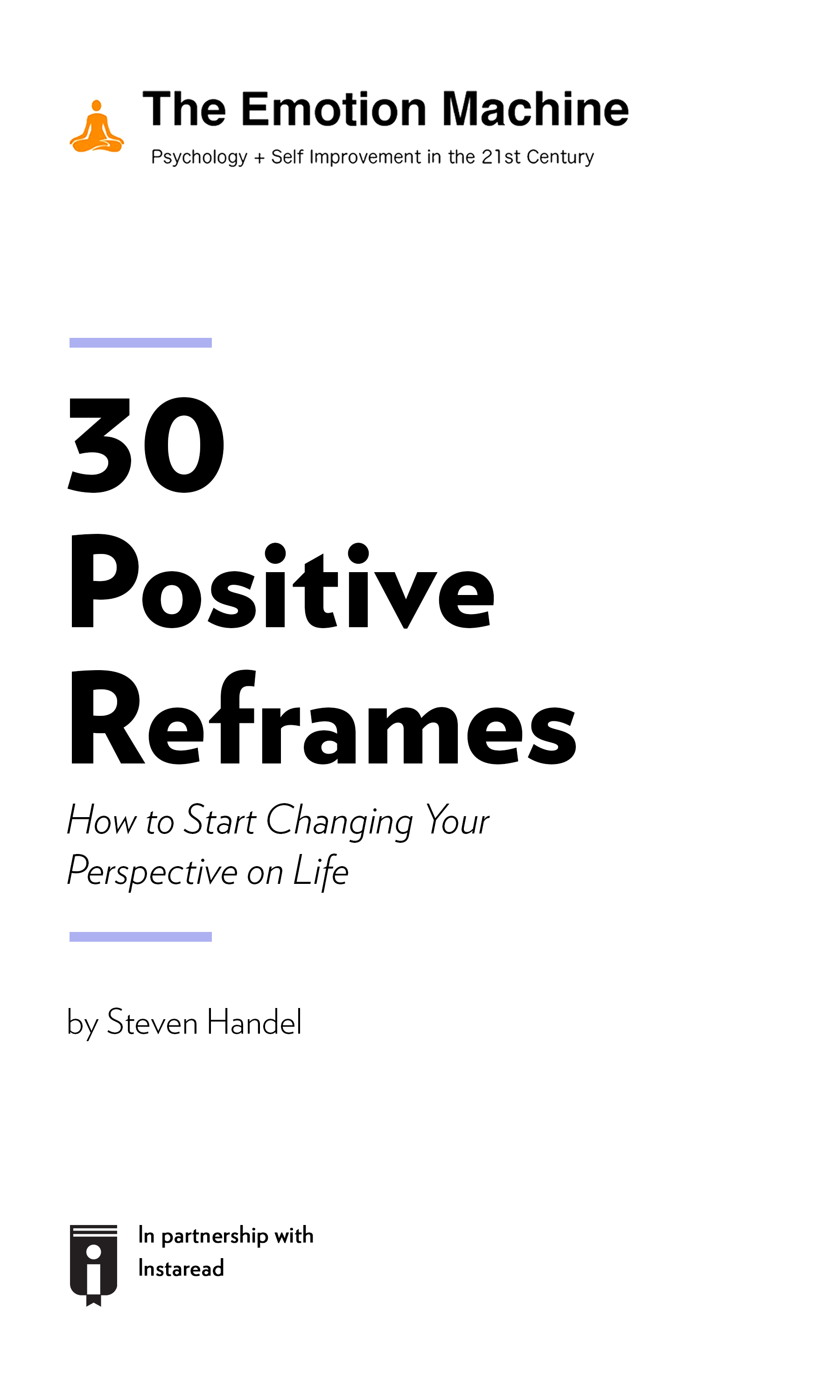 """Book Cover for """"30 Positive Reframes: How to Start Changing Your Perspective on Life"""""""