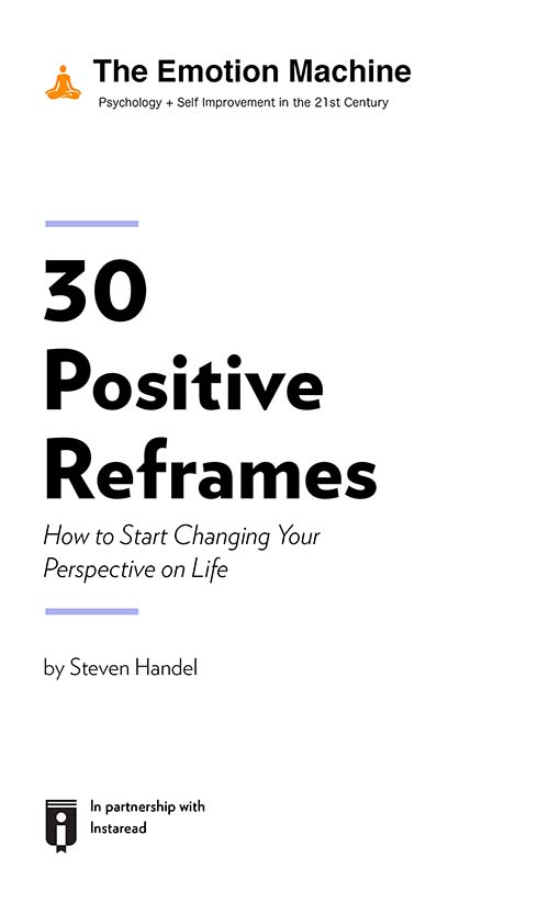 "Book Cover for ""30 Positive Reframes: How to Start Changing Your Perspective on Life"""