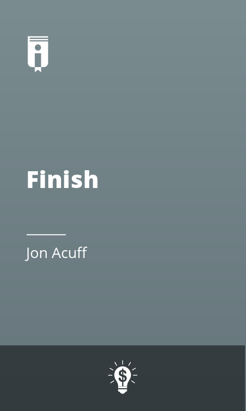 """Book Cover for """"Finish"""""""