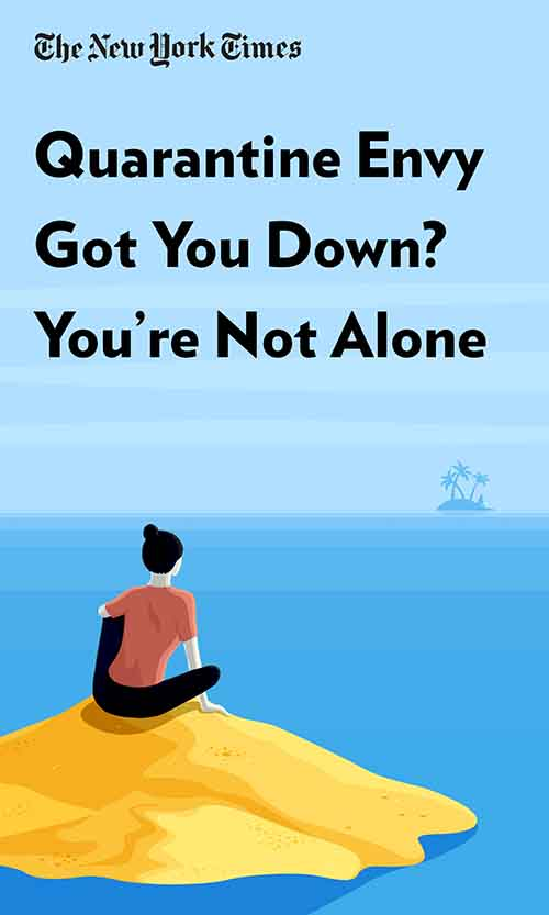 """Book Cover for """"Quarantine Envy Got You Down? You're Not Alone"""""""
