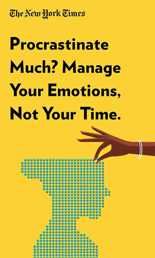 "Book Cover for ""Procrastinate Much? Manage Your Emotions, Not Your Time."""