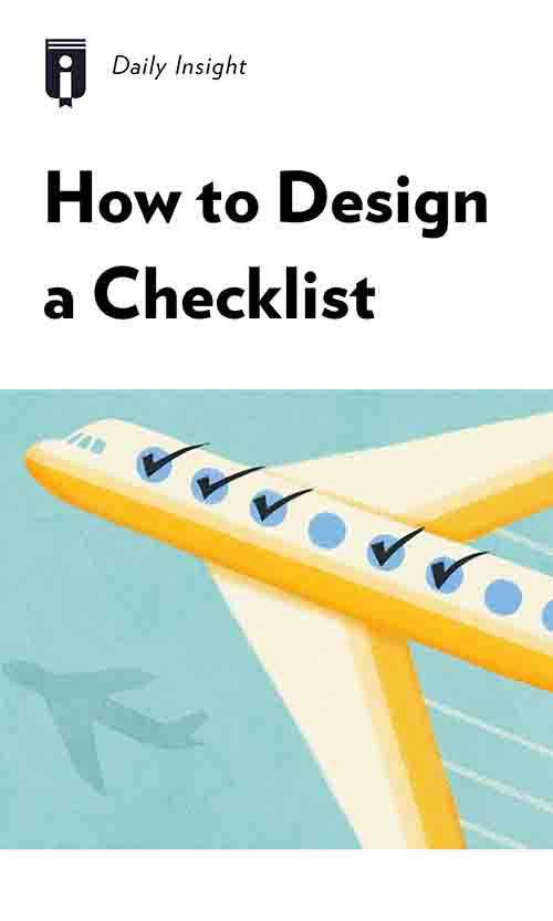 "Book Cover for ""How to Design a Checklist"""