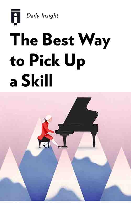 "Book Cover for ""The Best Way to Pick Up a Skill"""