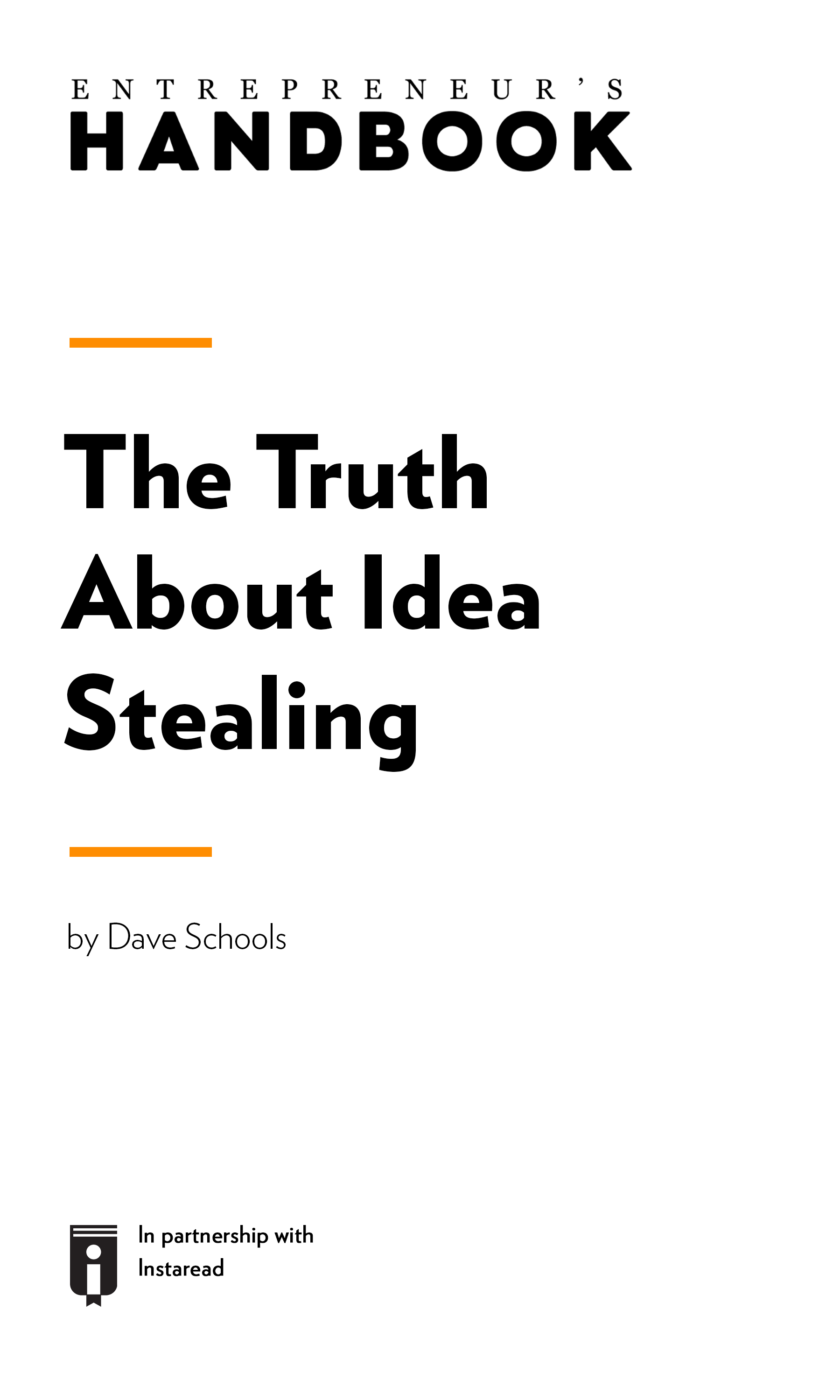 "Book Cover for ""The Truth About Idea Stealing """