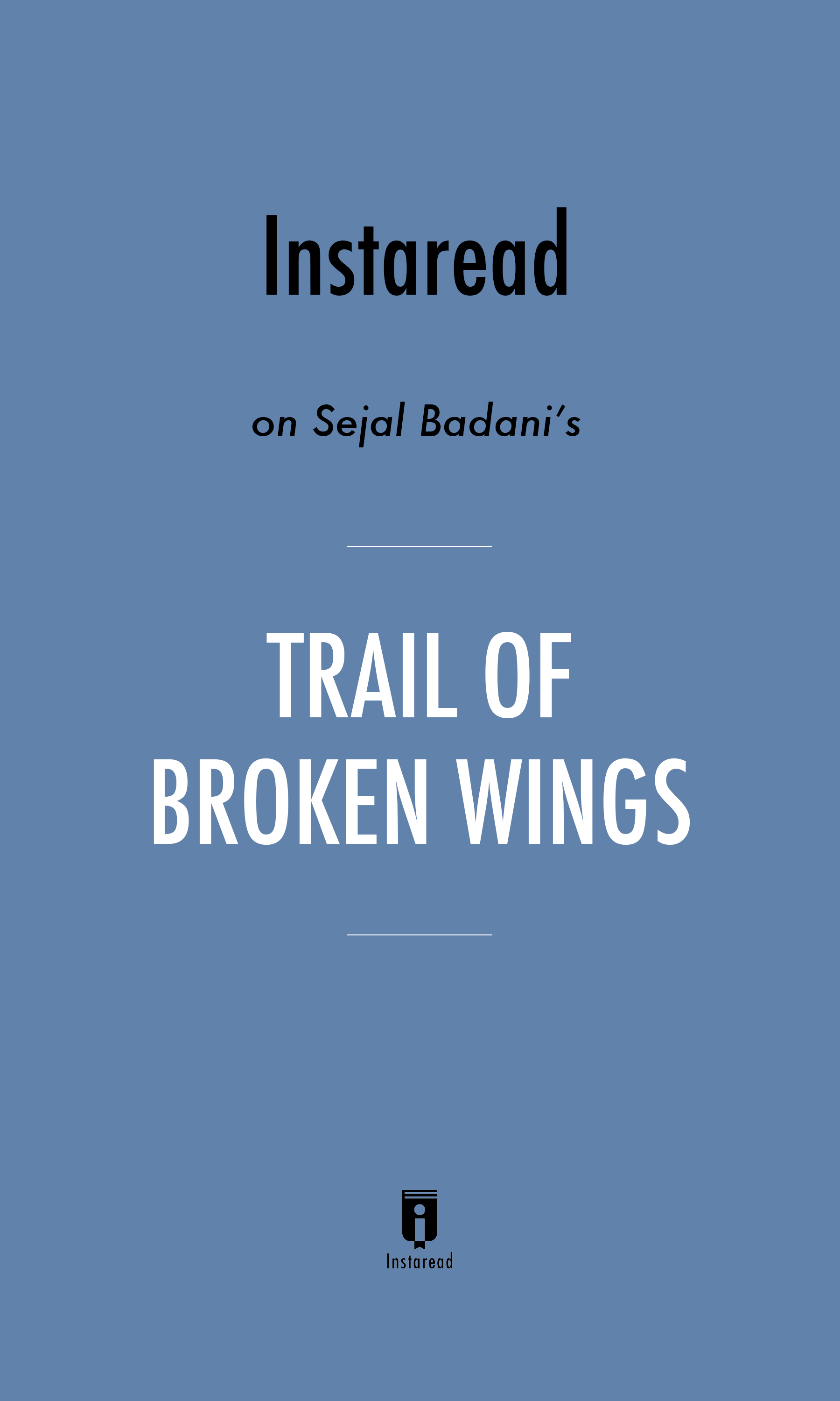 "Book Cover for ""Trail of Broken Wings"""