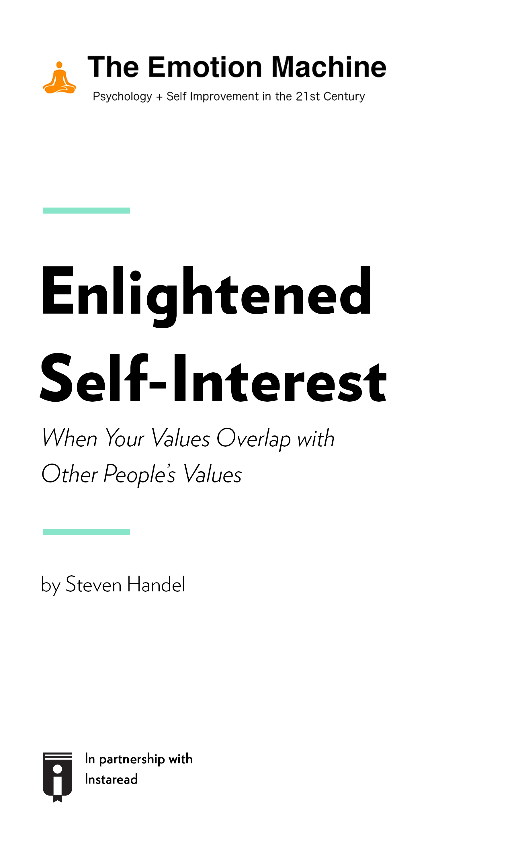 """Book Cover for """"Enlightened Self-Interest: When Your Values Overlap with Other People's Values"""""""
