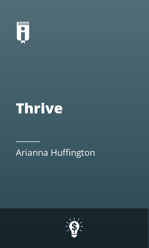 "Book Cover for ""Thrive"""