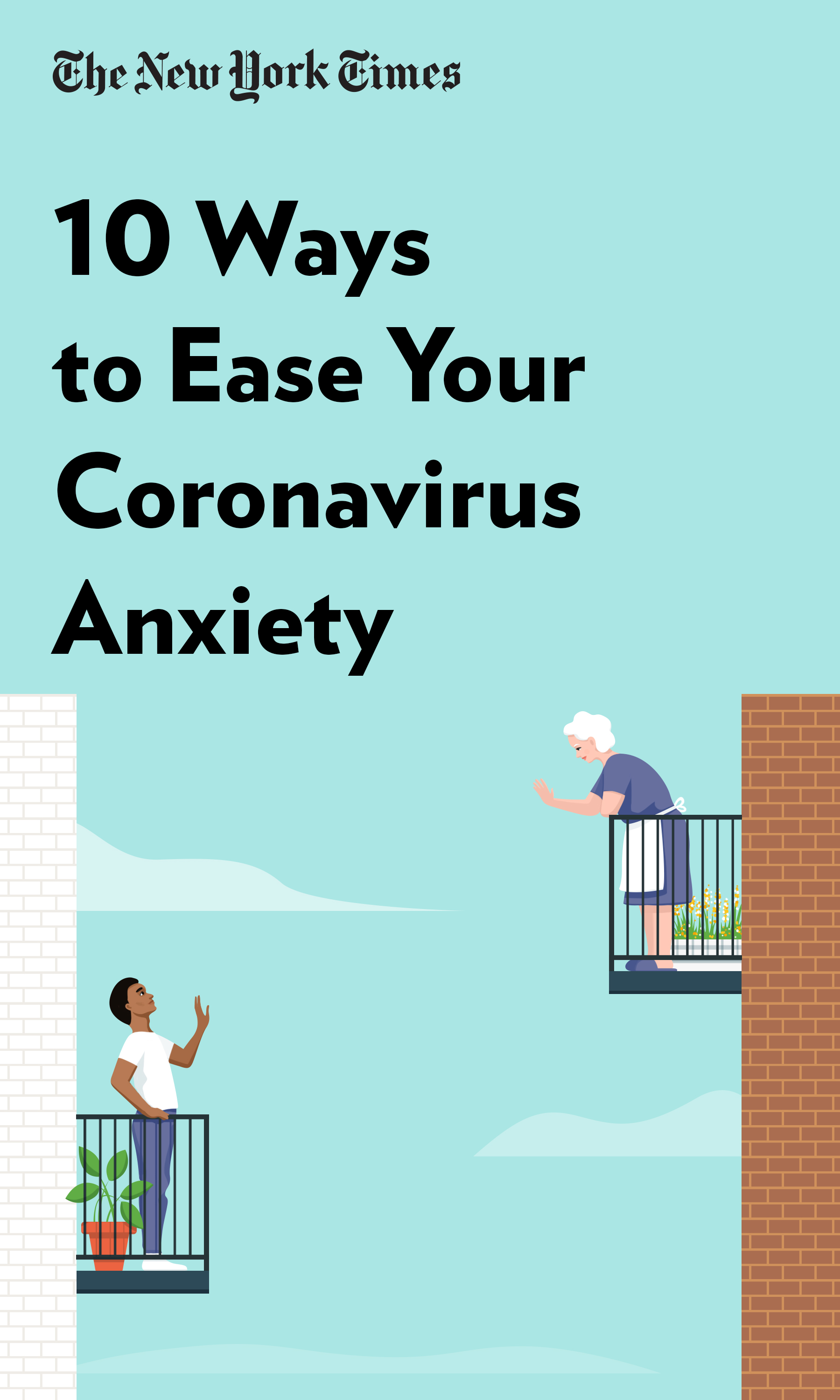 """Book Cover for """"10 Ways to Ease Your Coronavirus Anxiety"""""""